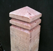 DIAMOND TOPPED DOUBLE GROOVE BOLLARD