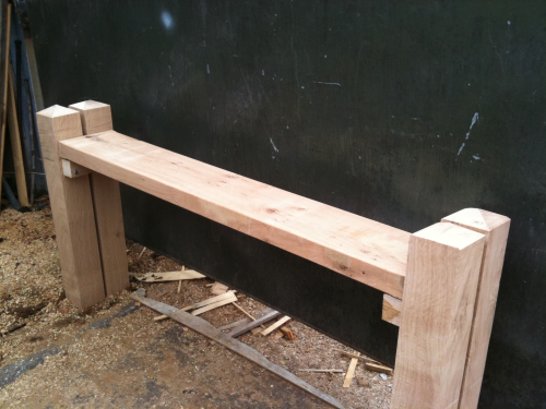 6ft (1.8m) wide. Four post seat kit