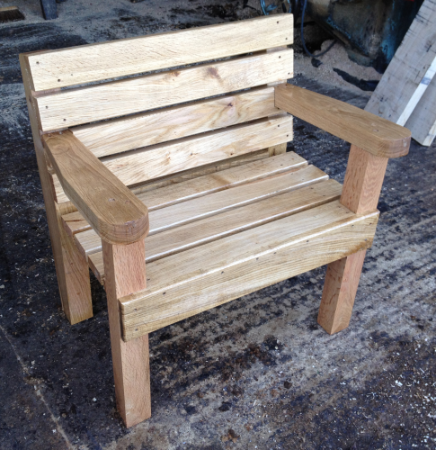 Standard 2'- 60cm single oak seat