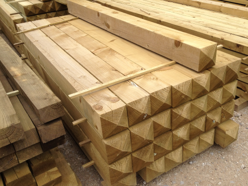 6x6inch softwood PT gate post