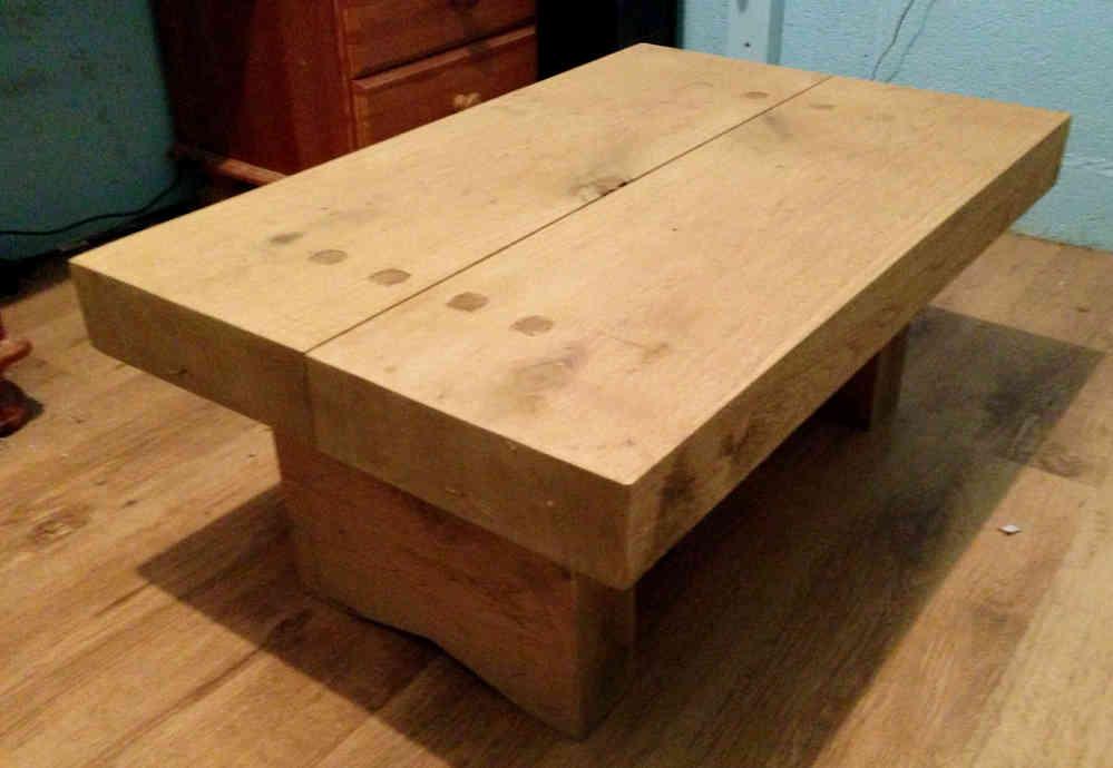 10x3 handmade coffee table ingestre woodworks