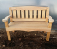 SLATTED BACK BILMOR OAK BENCH SEAT
