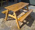 STANDARD OAK PICNIC TABLE