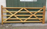 WOODMANCOTE IROKO ENTRANCE GATES