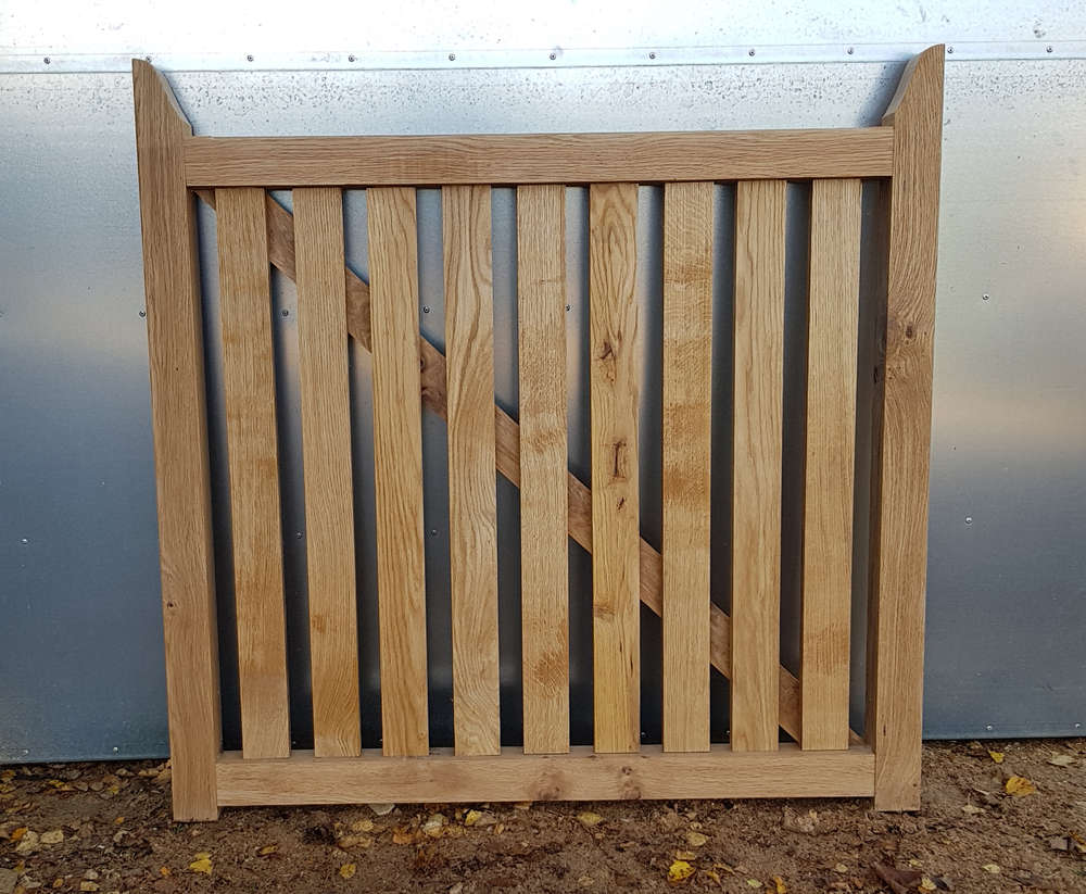 Paled morticed garden gate up to 4\'-1.2m wide - ingestre woodworks