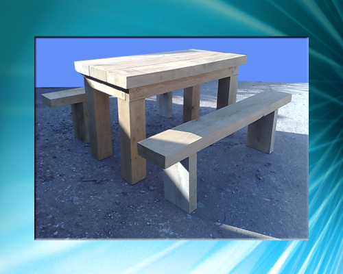 Sheneale bench set - 6ft