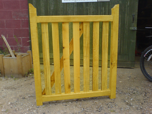 Softwood paled morticed garden gate up to 4'-1.2m wide