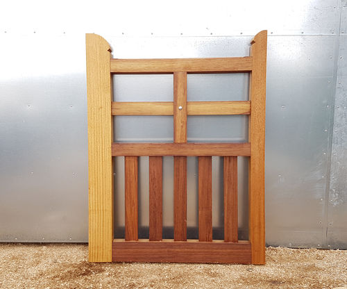 Iroko Foxhole gate - up to 4ft 1.2m wide